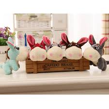 <b>12cm Kawaii</b> Little Donkey Plush Toys <b>Cute</b> Mini Pendant Soft ...