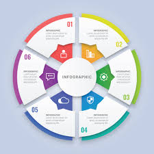 Circle Website Design 3d Circle Infographic Template With Six Options For Workflow