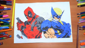 Small Picture Deadpool vs Wolverine New Coloring Pages For Kids Colors