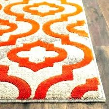 red and orange rug orange modern runner rugs