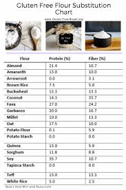 Gluten Free Flour Conversion Chart Guide To Gluten Free Flour Substitutes Gluten Free Bread