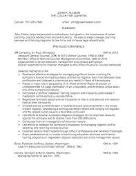 Printable Previous Experience Litigation Attorney Resume And The