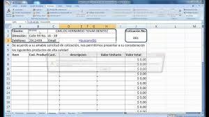 Formato De Cotizacion Para Llenar Como Hacer Para Llenar Una Cotizacion A Partir De Unos Datos Mp4