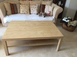 ikea lack coffee table with some wood and dye living room side tables large