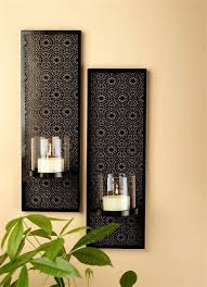new silver mirror wall sconce set pair 2 candle sconces