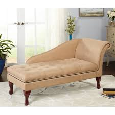 simple living tan chaise lounge with storage  free shipping today