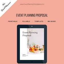 Event Planning Proposal Event Planning Proposal For Event And Wedding Planners Customizable Printable Template Ms Word