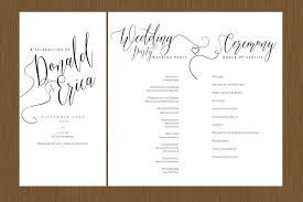 Wedding Program Designs A Beautiful Wedding Program Detail Wedding Design