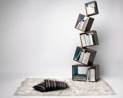 Furniture: Artistic Wood Bookshelves Wall Decor - Book Display Ideas