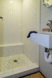 mixed tile in tiny house bathroom