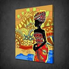 image is loading abstract drawing of african woman canvas print picture  on african woman wall art with abstract drawing of african woman canvas print picture wall hanging