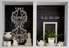 Kitchen Stencil A Kitchen Cabinet Makeover To Diy For And A Giveaway Fox