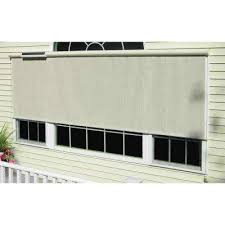 l charcoal horizontal solar roll up shade