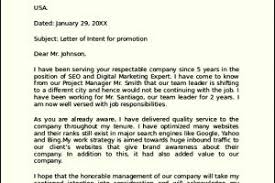 Letter of Intent for Promotion Sample 300x200