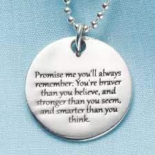 Quote Jewelry Simple Promise Me Christopher Robin Quote Pendant Sterling Silver