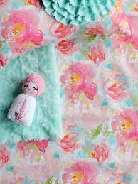 pink fl crib sheet