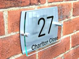 details about house door number plaque gate wall sign name plate glass acrylic aluminium