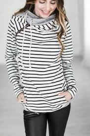 DoubleHood™ Sweatshirt - Tan <b>Stripe</b> | <b>Толстовка</b> с капюшоном ...