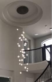 black floating bubble chandelier exotic lighting handblown custom using foyer lamp design dining table light fixture entrance