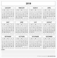 blank 2018 printable calendar template pdf printable calendar 2018