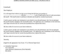 Employee Lay Off Letter Layoff Letter Sample Staff Reduction Checklist Notice