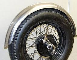 old school steel ribbed 5 wide fender harley triumph xs650 bobber