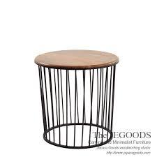 industrial metal and wood furniture. Iron Wire Frameside Table,meja Kayu Besi Kawat Jepara,furniture Manufacturer Jepara Indonesia, Jeruji Side Table Ware Rustic Industrial Metal And Wood Furniture