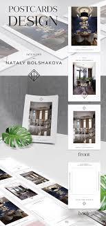 Interior Design Postcards Postcards For Interior Design Studio Branding Interior