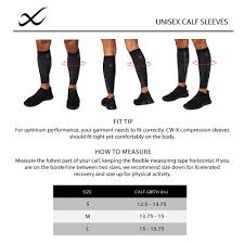 Calf Size Chart Unisex Calf Sleeve Size Chart Aug 2019 Cw X