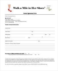 Event Vendor Agreement Template Sample Vendor Agreement Forms 8 Free