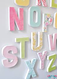 Paper Mache Decorating How To Make Your Own Letter Wall The Love Nerds