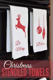Kitchen Christmas Christmas Stenciled Kitchen Towels I Heart Nap Time