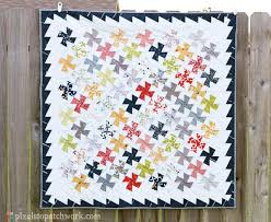 378 best Lil Twister Quilts/Table Runners images on Pinterest ... & from Pixels to Patchwork: Twister baby quilt Adamdwight.com