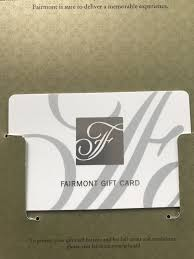 300 fairmont hotels gift card for 225 00