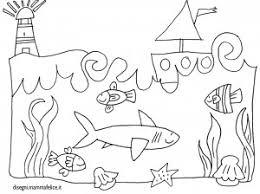 Disegno Per Bambini Da Colorare Gratis Mare Paesaggio Sottomarino