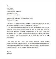 Internship Application Letter For Engineering Students Pdf