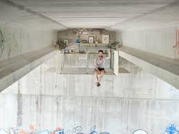 Courtesy urban office Ou Designs The Project Is An Effort To Reclaim Unused Urban Spaces The photo Courtesy Of Jose Manuel Pedrajas Washington Post This Man Created Mysterious Office Suspended Underneath Bridge
