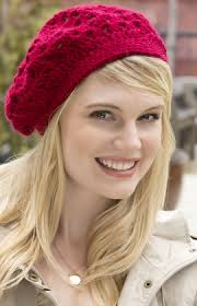 Crochet Beret Pattern Impressive The Bridgette Beret Is A Free Crochet Hat Pattern From Red Heart