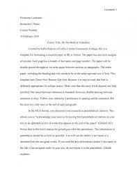 Cover Letter Mla Format Essay Analysis Essay Mla Format