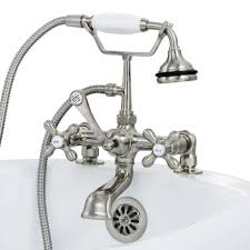 faucets for clawfoot tubs inspirations with bathroom roman bathtub images water coming out of faucet and shower head pull waterfall