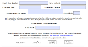 Download Hyatt Credit Card Authorization Form Template | Pdf ...