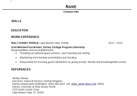 Resume Outline
