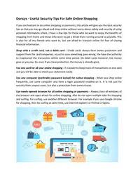 Is it safe to shop online with a credit card. Doncys Useful Security Tips For Safe Online Shopping By Doncys Review Issuu