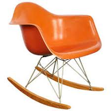 charles and ray eames orange fiberglass rocker manufactured by herman miller charles and ray eames furniture