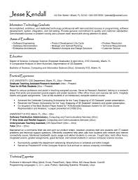 Resume Format For Information Technology Engineers Refrence