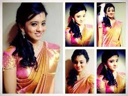 hairstyles south indian bride bridal saree makeup jewellery