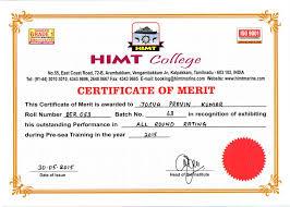 Merit Certificate For Students Under Fontanacountryinn Com