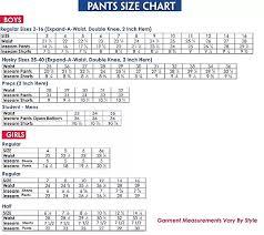 Kids Pants Size Chart Boys Husky Pants Size Chart Www Bedowntowndaytona Com