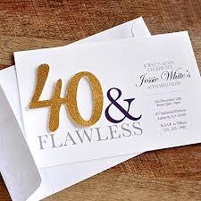 40th Birthday Invitations Amazon Com 40th Birthday Invitations And Envelopes For Men