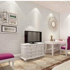 new white d modern design brick wallpaper roll vinyl wall